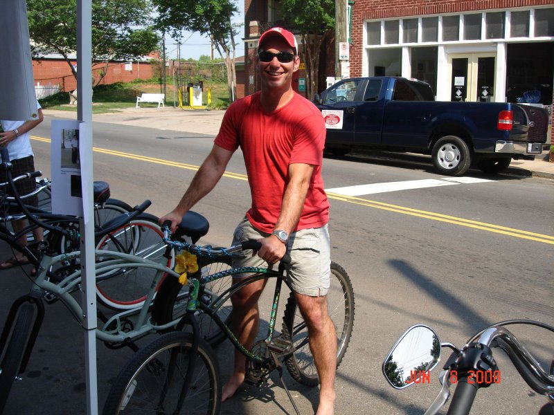 Ricardo on his new custom Peace Passers Cruiser